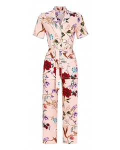 Pyjama doorknoop met ceintuur Ringella