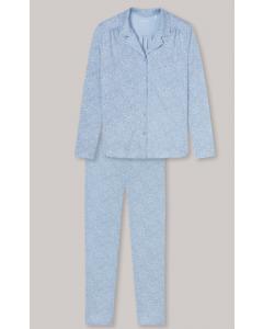 Pyjama met kraag Schiesser doorknoop