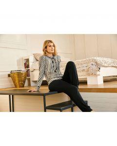 Pyjamabroek met boorden Nina von C.